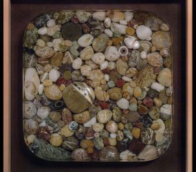 Resin, sand, stones & artificial eye • 30x30cm • More pic. > GALLERY SCULPTURES