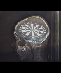 Photography on glass, oac base : x-ray photograph in front of a target • 9x16cm • GALLERY PHOTOGRAPHY